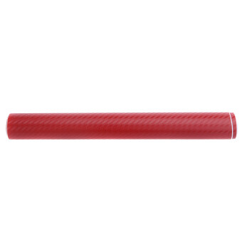 150ซม x 30ซม 3D เส้นใยคาร์บอนเคลือบเรซิน/สติ๊กเกอร์ภายในร่างกายการตกแต่งรถสีแดง