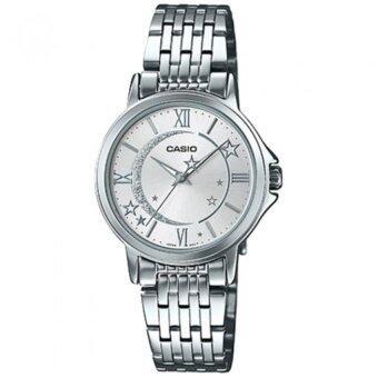 Casio Standard นาฬิกาข้อมือผู้หญิง สายสแตนเลสส รุ่น LTP-E121D-7ADF (Sliver)