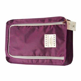 กระเป๋ารองเท้า D-pocket (สีม่วง)