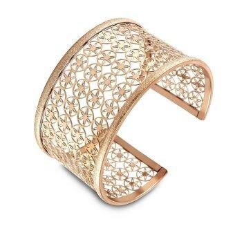 555jewelry กำไลสำหรับสุภาพสตรี รุ่น FSBG72-C ( Pink Gold )