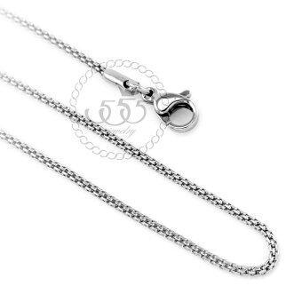 555jewelry สร้อยคอโซ่ถักกลม รุ่น MNC-C004-A (สี สตีลเงิน)