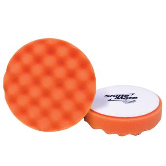 SHINE MATE ฟองน้ำขัดเคลือบสีรถ รุ่น Waffle สีส้ม ขนาด 6 นิ้ว