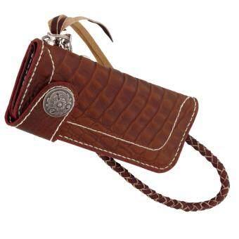 SAPA กระเป๋าสตางค์หนังแท้ ทรงยาว แนว Bilker วินเทจ สำหรับผู้ชาย รุ่น SPE05
