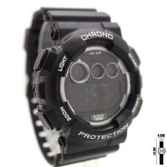 นาฬิกา Sport Watch นาฬิกาข้อมือผู้ชาย-ผู้หญิงและเด็ก ระบบดิจิตอล ทรงกลม สายยาง