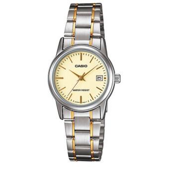 Casio Standard นาฬิกาข้อมือผู้หญิง สายสแตนเลส 2 กษัตริย์ รุ่น LTP-V002SG-9AUDF - สีทอง