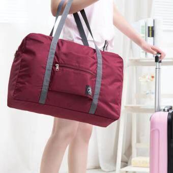 TravelGear24 กระเป๋าเดินทางแบบพับได้ กระเป๋าเดินทางแบบพกพา ล็อกกับกระเป๋าเดินทางได้ Travel Strip Foldable Bag (Red/สีแดง)) (image 2)