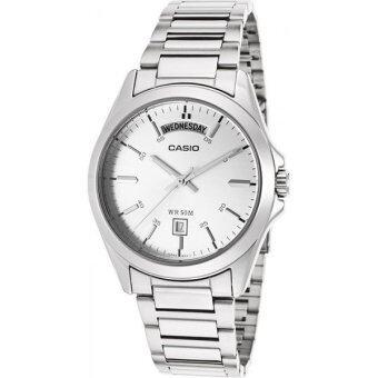 Casio Standard นาฬิกาข้อมือผู้ชาย สีเงิน สายสแตนเลส รุ่น MTP-1370D-7A1VDF