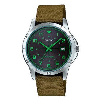 Casio Standard นาฬิกาข้อมือ ผู้ชาย สายผ้าMTP-V008B-3BUDF