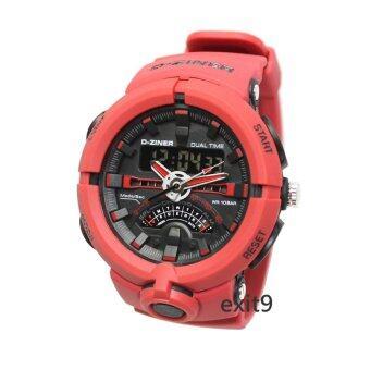 D-ZINER นาฬิกาข้อมือผู้ชาย สายซิลิโคน รุ่นDZ-8174 (แดง)