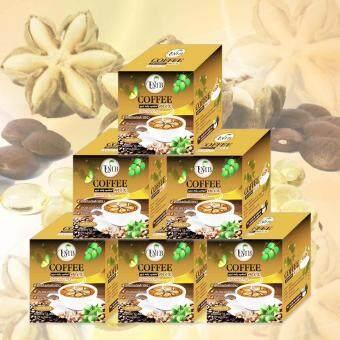 UMB Sacha Inchi UMB Coffee Mix Double x2 กาแฟถั่วดาวอินคา รสเข้มข้น ชนิดบรรจุกล่องละ 12 ซอง 6 กล่อง