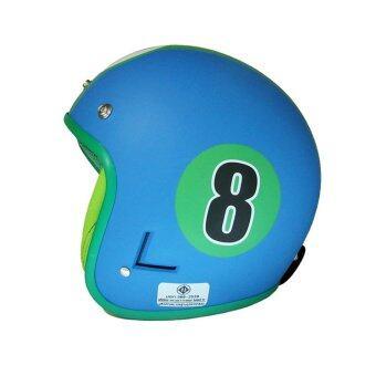 DIFF หมวกกันน็อควินเทจเต็มใน สีฟ้า-เขียว
