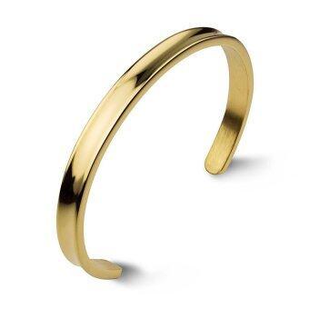 555jewelry กำไล สแตนเลสสตีล ดีไซน์คลาสสิค (สี ทอง)