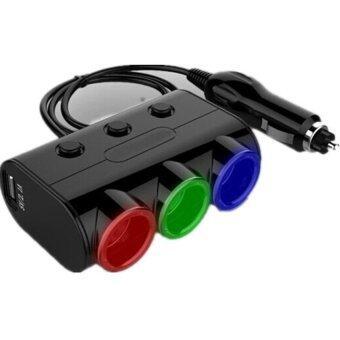 Dtawan ปลั๊กพ่วง สำหรับใช้ในรถยนต์ รุ่น Car_USB ( สีดำ )
