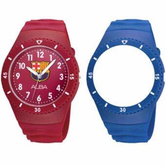 ALBA FCBARCELONA นาฬิกาข้อมือผู้ชาย สีแดง/น้ำเงิน สายยาง รุ่น ARX001X1