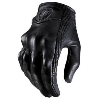 กีฬากลางแจ้งอย่างพวกรถจักรยานยนต์ถุงมือถุงมือไม่มีนิ้วหนังสั้นช่อง XL (สีดำ)