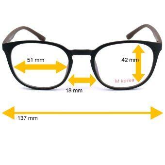 Fashion M Korea แว่นสายตา รุ่น 8550 สีดำตัดน้ำตาล แว่นตากรองแสงสีฟ้า ถนอมสายตา (กรองแสงคอม กรองแสงมือถือ) (image 2)