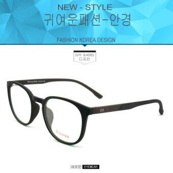 Fashion M Korea แว่นสายตา รุ่น 8550 สีดำตัดน้ำตาล แว่นตากรองแสงสีฟ้า ถนอมสายตา (กรองแสงคอม กรองแสงมือถือ)