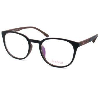 Fashion M Korea แว่นสายตา รุ่น 8550 สีดำตัดน้ำตาล แว่นตากรองแสงสีฟ้า ถนอมสายตา (กรองแสงคอม กรองแสงมือถือ) (image 4)