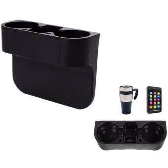 Mastersat Car Storage box กล่องวางแก้วน้ำ อุปกรณ์ภายในรถยนต์ (สีดำ)