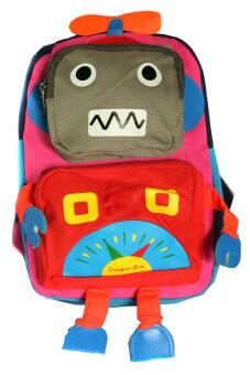 กระเป๋านักเรียน กระเป๋าเด็กอนุบาล รูปหุ่นยนต์ (สีแดง)