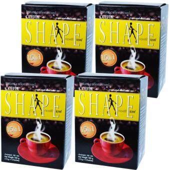 Coffee Shape คอฟฟี่เชฟ สูตรข้าวกล้องงอก กาแฟลดน้ำหนัก เพื่อสุขภาพ หุ่นสวย สั่งได้ บรรจุ 12 ซอง (4 กล่อง)
