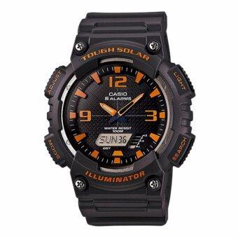 Casio Standard Solar Power นาฬิกาข้อมือผู้ชาย สายเรซิ่น รุ่น AQ-S810W-8AV