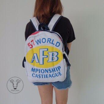 AFB กระเป๋าเป้สะพายหลัง ( สีขาว )