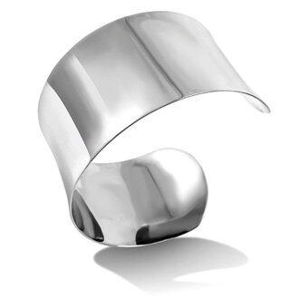 555jewelry กำไลข้อมือแบบตัว C สวมใส่ง่าย รุ่น MNC-BG192-A สี Steel