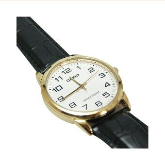 Casio นาฬิกาข้อมือผู้ชาย รุ่น MTP-V001GL-7BUDF (สีดำ)