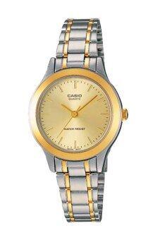 Casio Standard นาฬิกาข้อมือผู้หญิง สายสแตนเลส รุ่น LTP-1128G-9ARDF - เรือน2กษัตริย์/หน้าทอง