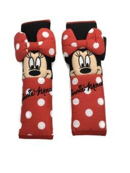 Minnie Mouse ลิขสิทธิ์แท้ หุ้มเบลท์ เข็มขัดนิรภัยรถยนต์