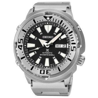 Seiko นาฬิกาข้อมือชาย สีเงิน สายสแตนเลส รุ่น SRP 637K1