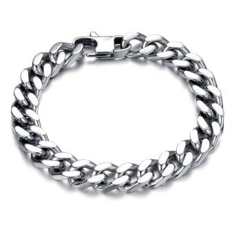 Harga ZUNCLE Korean Imports Titanium Steel Chain Weave Bracelet Jewelry Fashion Jewelry Wholesale(Silver)