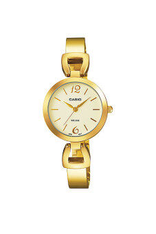 Casio Lady นาฬิกาข้อมือ สายสแตนเลส รุ่น LTP-E402G-9A - Gold
