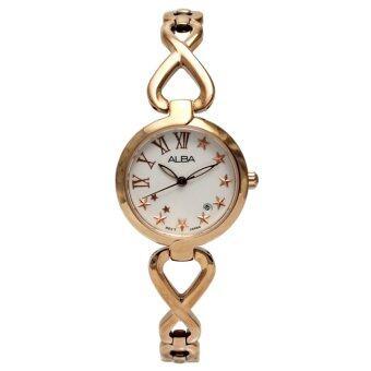 ALBA นาฬิกาข้อมือ สายสแตนเลสสตีล รุ่น AH7A48X - Pink Gold