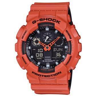 Casio G-Shock นาฬิกาข้อมือรุ่น GA-100L-4ADR - ประกัน CMG 1 ปี