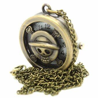 DBS นาฬิกาแฟชั่นสร้อยคอผู้หญิงและผู้ชายรูปหัวกระโหลกสุดเท่ห์ SKK-001