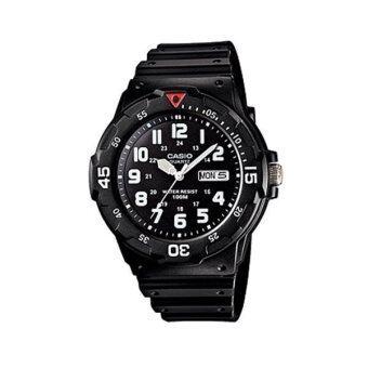 Casio Standard Men นาฬิกาข้อมือผู้ชาย สีดำ สายเรซิ่น รุ่น MRW-200H-1B