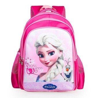 Hely TOP Kids Girls High-capacity Cute Cartoon Backpack Frozen Schoolbag Casual Outdoor Bag (Rose) - intl