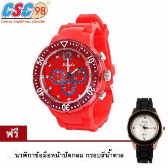 นาฬิกาข้อมือแฟชั่นสุภาพบุรุษและสตรี คละแบบ แพ็คคู่