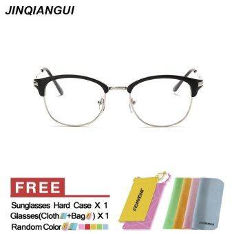 แฟชั่นแว่นตารูปวงรีสีดำกรอบแว่นตาธรรมดาสำหรับสายตาสั้นสายตาแว่นตากรอบแว่นตาผู้หญิง óculos Femininos Gafas