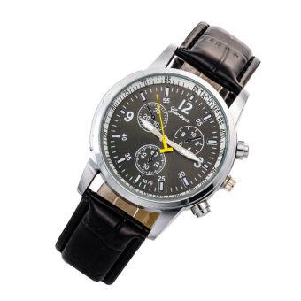 ร้อนใหม่คนกรุงเจนีวาสายสายหนังนาฬิกาข้อมือผลึกคล้ายคลึง-สีดำ