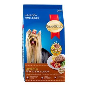 SmartHeart Beef Steak Flavor for All Toy and Small Breeds Dog Food 450g อาหารสุนัข สมาร์ทฮาร์ท รส สเต็กเนื้อ สำหรับสุนัขพันธุ์เล็ก ทุกสายพันธุ์ 450 กรัม