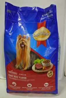 SmartHeart สมาร์ทฮาร์ทสุนัขพันธ์เล็ก รสเนื้อ 3 กก. 1 ถุง