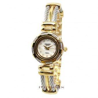 CHAPZE นาฬิกาข้อมือผู้หญิง หน้าปัดสีขาวมุข เปลี่ยนกรอบได้ 4 แบบ