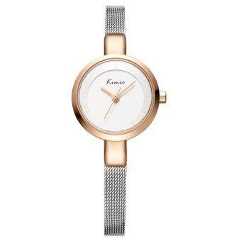 Kimio นาฬิกาข้อมือผู้หญิง สายสแตนเลส สี Silver/ Rose Gold รุ่น KW6115