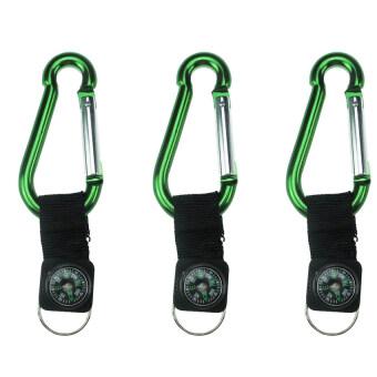 Replica Shop พวงกุญแจเข็มทิศ แพค/3ชิ้น - สีเขียว(Green)