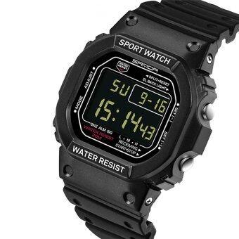 ซานดา 329คนกีฬากลางแจ้งมัลติฟังก์ชั่นนาฬิกากันน้ำ Noctilucent (สีดำ)