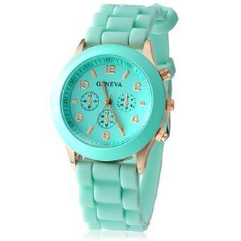 Geneva Colorful นาฬิกาข้อมือผู้หญิง สีเขียวมิ้น สายซิลิโคน รุ่น GNV-562