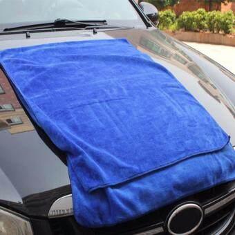 DTG ผ้าเช็ดรถไมโครไฟเบอร์ 60 x 160 cm จำนวน 1 ชิ้น (สีน้ำเงิน)